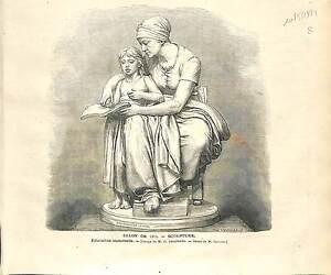SCULPTURE-SCULPTEUR-Eugene-Delaplanche-ALLEGORIE-MERE-ENFANT-INSTRUCTION-1873