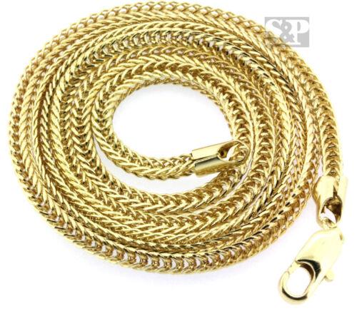 Mens 14K Gold PT Hip Hop 36 Inch 4mm Franco Chain Rapper/'s Necklace Details about  / USA Seller