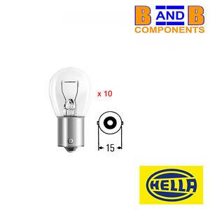 024.98.024 KIT 10x LAMPADINA LAMPADA AUTOLAMPS 6V  15W  P26S BIANCA