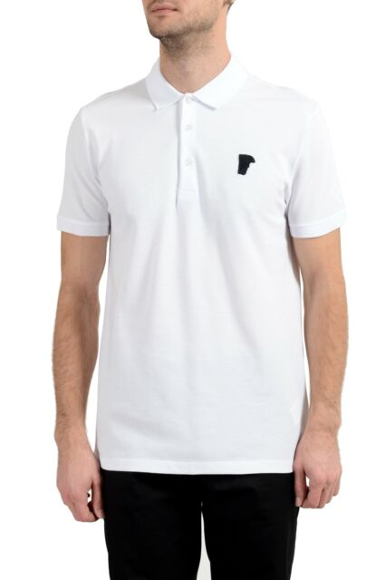 Versace Collection Men/'s White Pocket Short Sleeve Polo Shirt