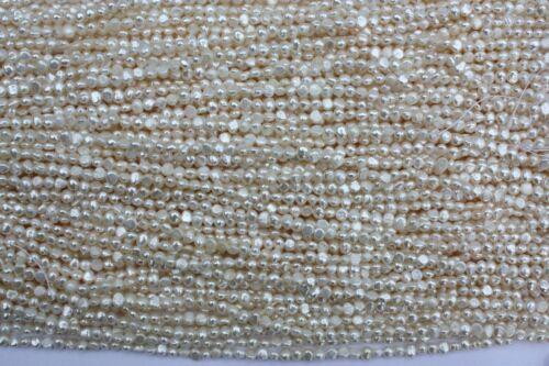 BR50 5-6 mm Zuchtperlen Strang Süßwasser Perlen Schmuck Halskette barock Kette