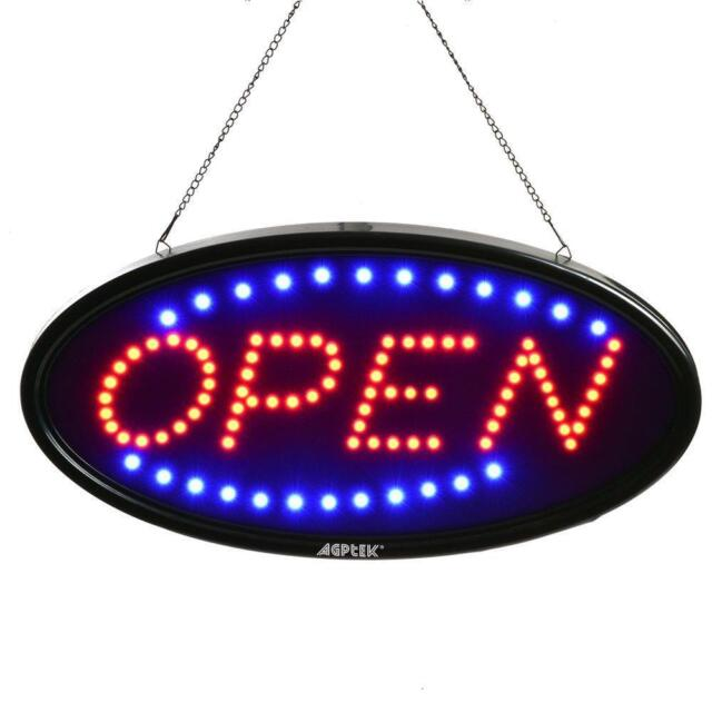 Sign LED Light Up Open Business Neon Advertisement Window