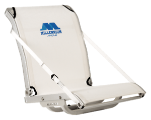 MILLENNIUM PRO-M SALT WATER BOAT SEAT WHITE SW100WH FOR CRAPPIE POLE FISHING