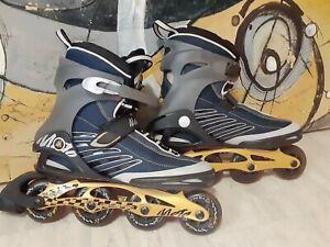 K2-Moto-M-Inline-Skates-Men-s-Sz-13-Blades-Original-84mm-Wheels-BOA-Straps-ILQ7