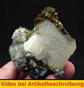 7578-Epidot-Calcit-Magnetit-ca-6-7-6-cm-1995-Dscheskagan-Kasachstan-MOVIE