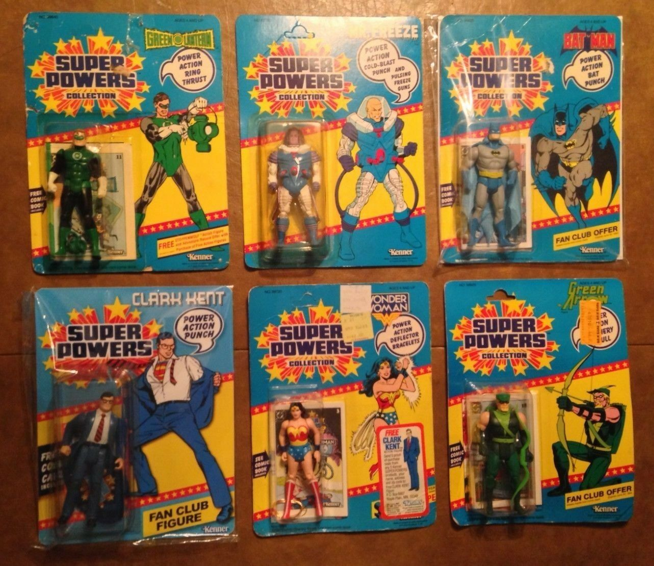 Kenner Super Powers Set of  5