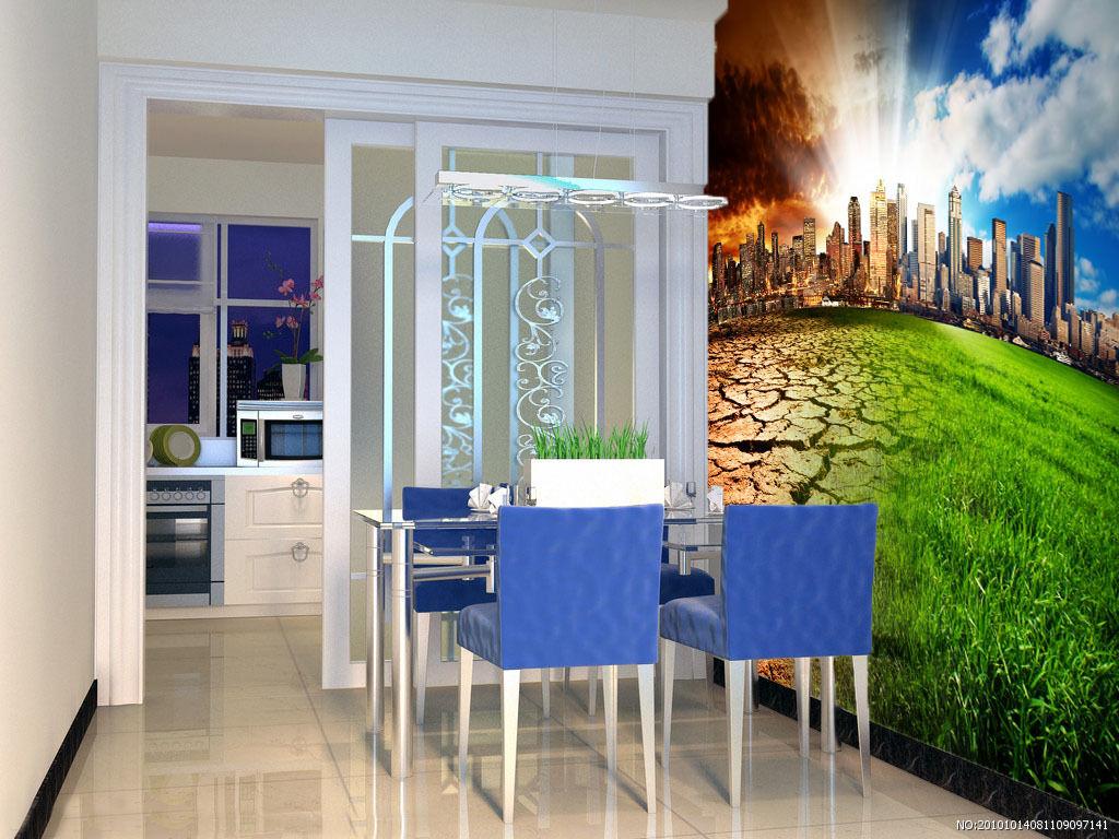 3D Drak Clouds City Grass Wall Paper Wall Print Decal Wall AJ WALLPAPER CA