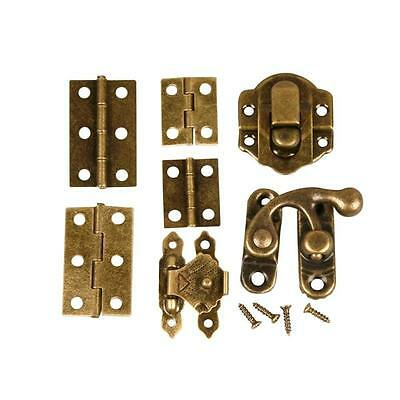 Mini Metal Door & Furniture Fittings - Handles Hinges Clasps - Dolls House Craft