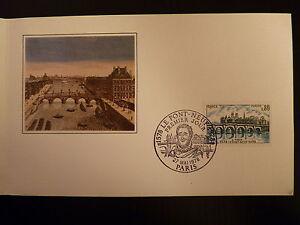 Adroit France Premier Jour Fdc Yvert 1997 Le Pont Neuf 0,80f Paris 1978