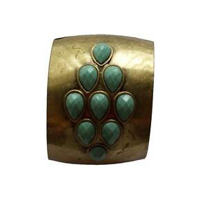 Avon-Ivala-Pulsera-De-Muneca-Pulido-Laton-con-turquesa-piedras-de-color