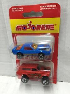 Majorette-Promo-2-Pack-1-64-4x4-CHEROKEE-Mad-Bull-1-62-PONTIAC-TRANS-AM-Blue