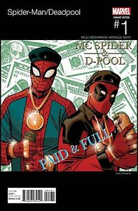 SPIDERMAN-DEADPOOL-1-RARE-ERIC-B-RAKIM-HIP-HOP-VARIANT-NM-AMAZING