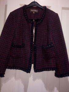 Eight Mix Precio Phase Bnwt 10 Jacket 99 Size Wool cerise Nuevo original Navy Z5nPZqw
