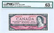 Canada … P-BC-44d … 1000 Dollars … 1954 … *UNC*   PMG-64 EPQ.