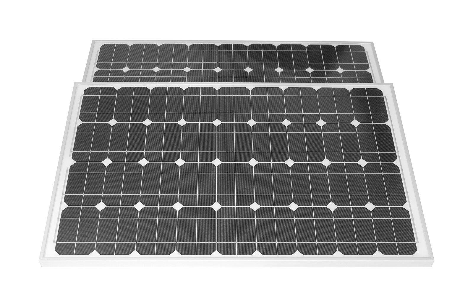 Solarset 12V / 24V 200 Watt mono+Solarladeregler 15A+2 Dioden mit TÜV Zertifikat