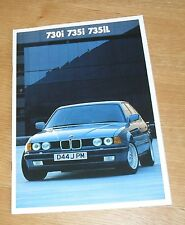 BMW 7 Series Brochure E32 1986 - 730I 735I 735IL