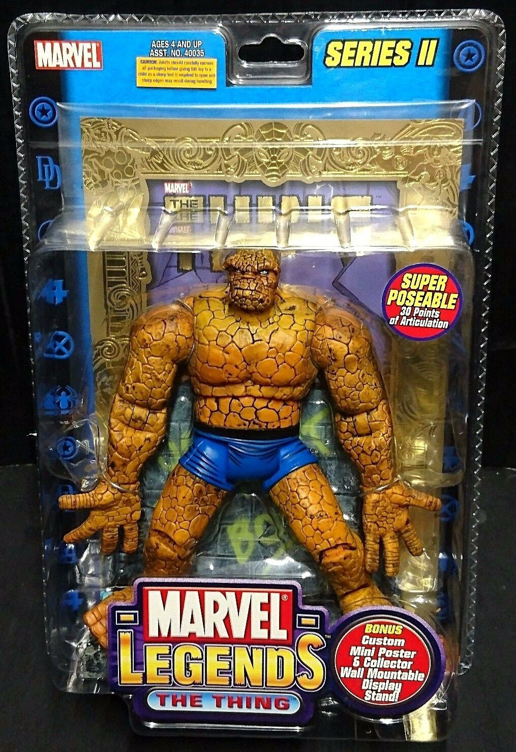 Marvel Legends Series II THING (Fantastic Four Ben Grimm) Rare  6  15cm New
