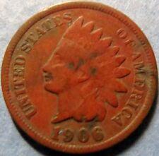 *1906  INDIAN  HEAD  BRONZE  PENNY, Nice Details Philadelphia Mint Coin  #3