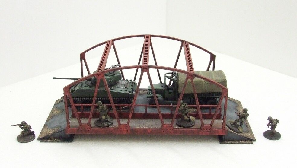 'BOX GIRDER BRIDGE' - 28mm  - ASSEMBLED MDF & PAINTED TO COLLECTOR'S STANDARD