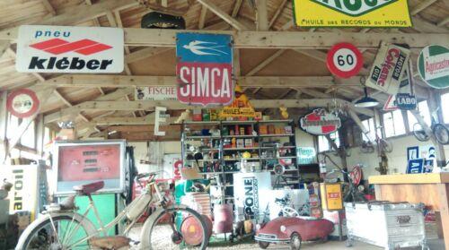 1 ancien BIDON D HUILE ESSSO MOTOR OIL  plein INDUS USINE,GARAGE,no émaillée