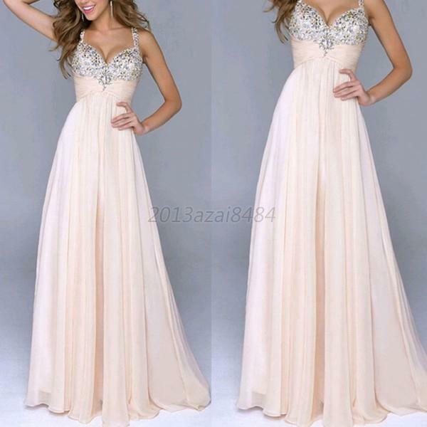 Womens Long MAXI Chiffon Dresses Summer Cocktail Party Formal Evening Gown Dress
