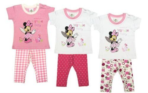 Minnie Babyset Neu kurzärmelige T-Shirt und Hose Mädchen Baby 56//62//68//74//80