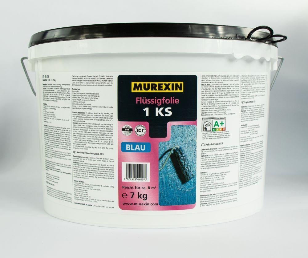 Flüssigfolie Streichfolie Dichtungsanstrich Dichtfolie flüssig Blau 7kg MUREXIN