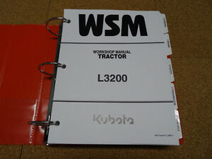 kubota l3200 tractor service workshop shop repair manual ebay rh ebay com Kubota Mini Tractor Kubota Mini Tractor