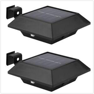 6 x Solarlampe Dachrinnen Solar 3 LED Außenleuchte Leuchte Terrasse Wand Lampe