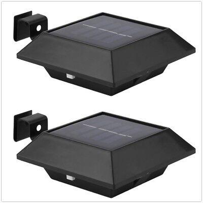 Solarleuchte Dachrinnen Zaun 6LED mit PIR Bewegungsmelder Sensor Licht Garten DE