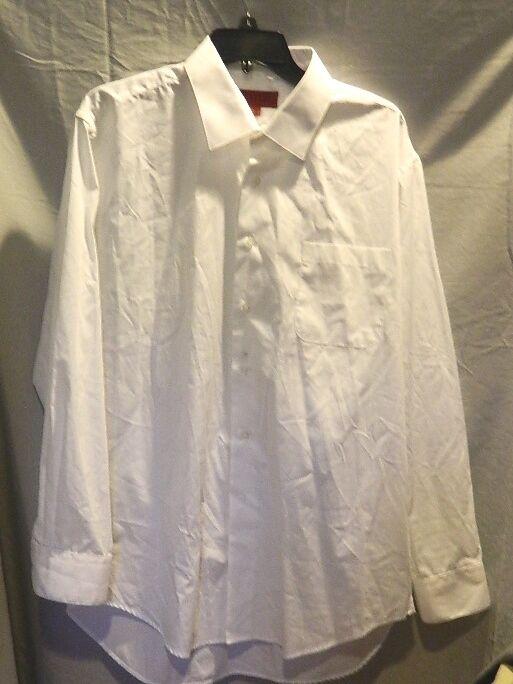 herren BERGAMO NEW YORK FITTED Weiß DRESS SHIRT SZ XL NWOTS  129 RETAIL