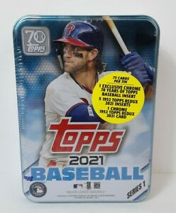 ⚾ 2021 Topps Series 1 Baseball Tin Factory Sealed Exclusive Chrome Harper maybe