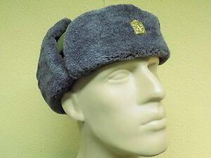 2d3e36ef5c7 Genuine Czech Army Fur Lined Hat Winter Ushanka with Lyon Badge ...
