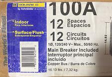 Square D 100 Amp 12 Space 12 Circuit Breaker Box Panel Load Center Indoor
