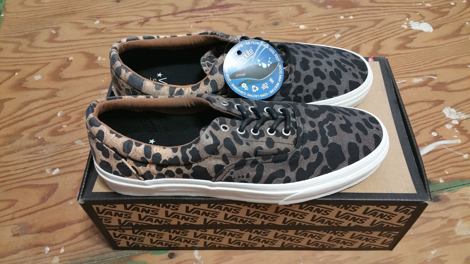 Vans Era CA Ombre Dyed Cheetah Black Men's Skate Shoes Size 10 supreme wtaps