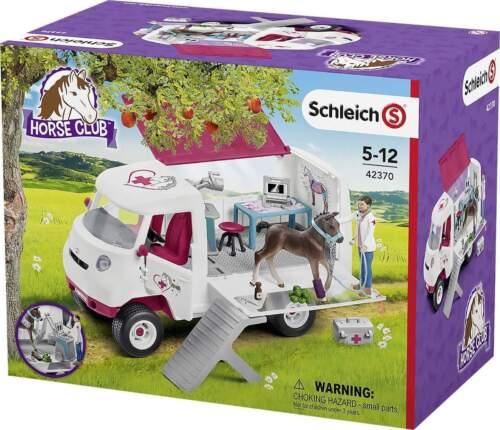 Schleich Horse Club 42370 Mobile Tierärztin mit Hannoveraner Fohlen ab 5 Jahre