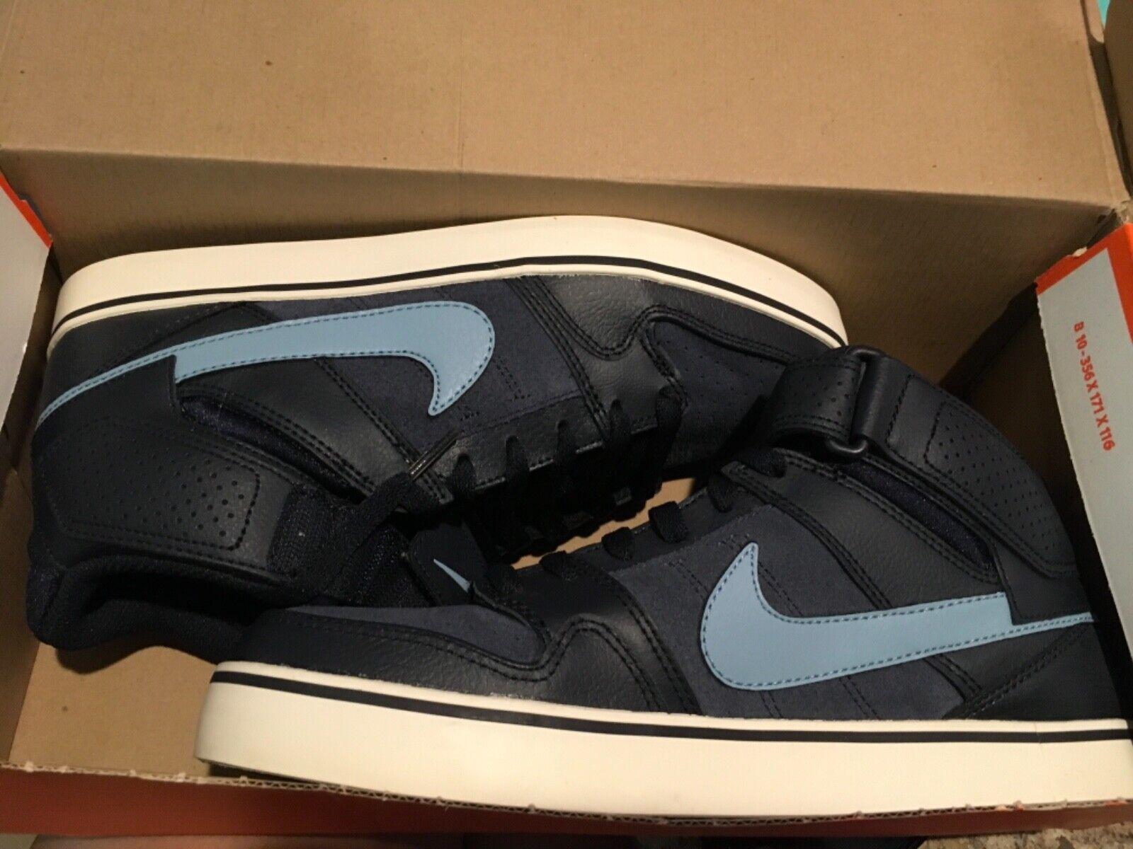 New Nike Mens sz 9 Mogan mid 2 SE Shoes 4487944-444 Sample! Obsidian navy blue