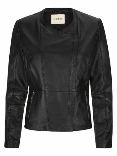 Uk 99 Box14 N Ladies Rrp Black Leather £299 8 32 Jacket Biker Havren wzx4qRIa