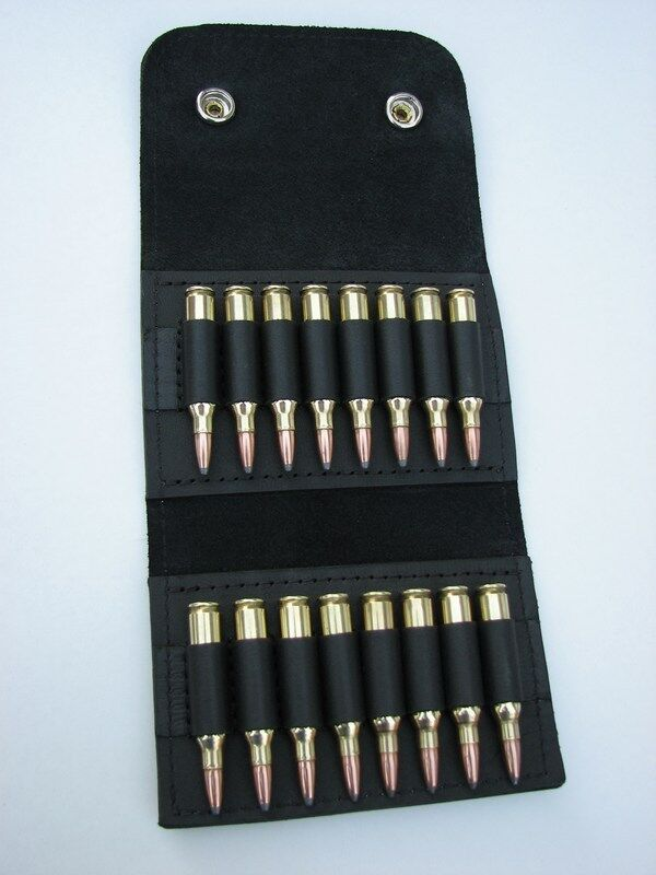 Leder AMMO wallet pouch.222 .223 holds 16 rounds