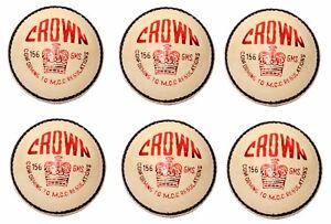 6X-CW-034-CROWN-WHITE-034-HIGH-Quality-4-Piece-Cricket-Ball-156-g-A-Grade