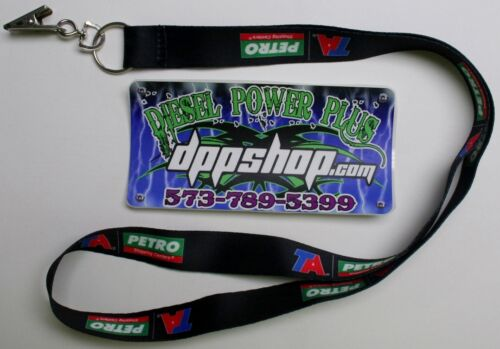 TA Petro lanyard necklace badge holder clip keychain key ring truck STOP fuel