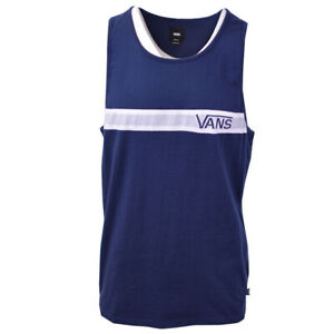 Vans-Off-The-Wall-Men-039-s-Navy-White-Stripe-Sleeveless-Tank-Top-S07-A-Retail-30