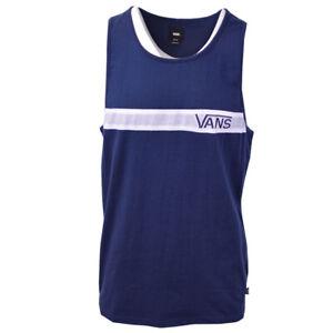 Vans-Off-The-Wall-Men-039-s-Navy-White-Stripe-Sleeveless-Tank-Top-S07-A-Retail-30