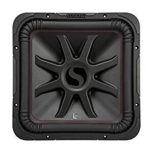 Details about Kicker L7R 15 Inch 1800W Max Power 4 Ohm DVC Square Car Audio Subwoofer, Black