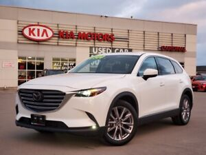 2020 Mazda CX-9 GS, AWD, 2ND ROW CAPTAIN CHAIRS, LEATHER, SUNROOF.