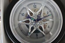 "14"" Car Rubber Tire Wall Clock Tire Rally Wheel Gear Muscle Rim Auto Racing Gara"