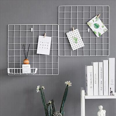 Multi-Function Iron Metal Grid Decor Photo Frame Wall Art Displ/'UK