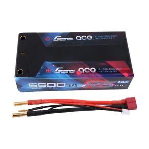 Gens Ace 5500mah 7.6v Hv 100c 2s2p Hardcase Lipo Batterie Pour Rc Voiture Camion