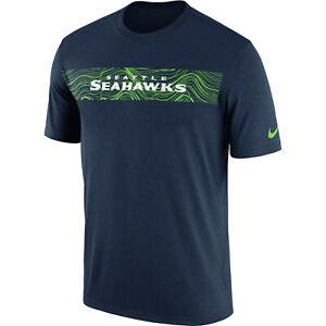 Nike-Seattle-Seahawks-Sideline-Seismic-Legend-T-Shirt-Taglia-L-Large-Blu-Navy