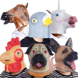 Animal-Horse-Unicorn-Full-Head-Mask-Halloween-Stag-Hen-Night-Party-Fancy-Dress